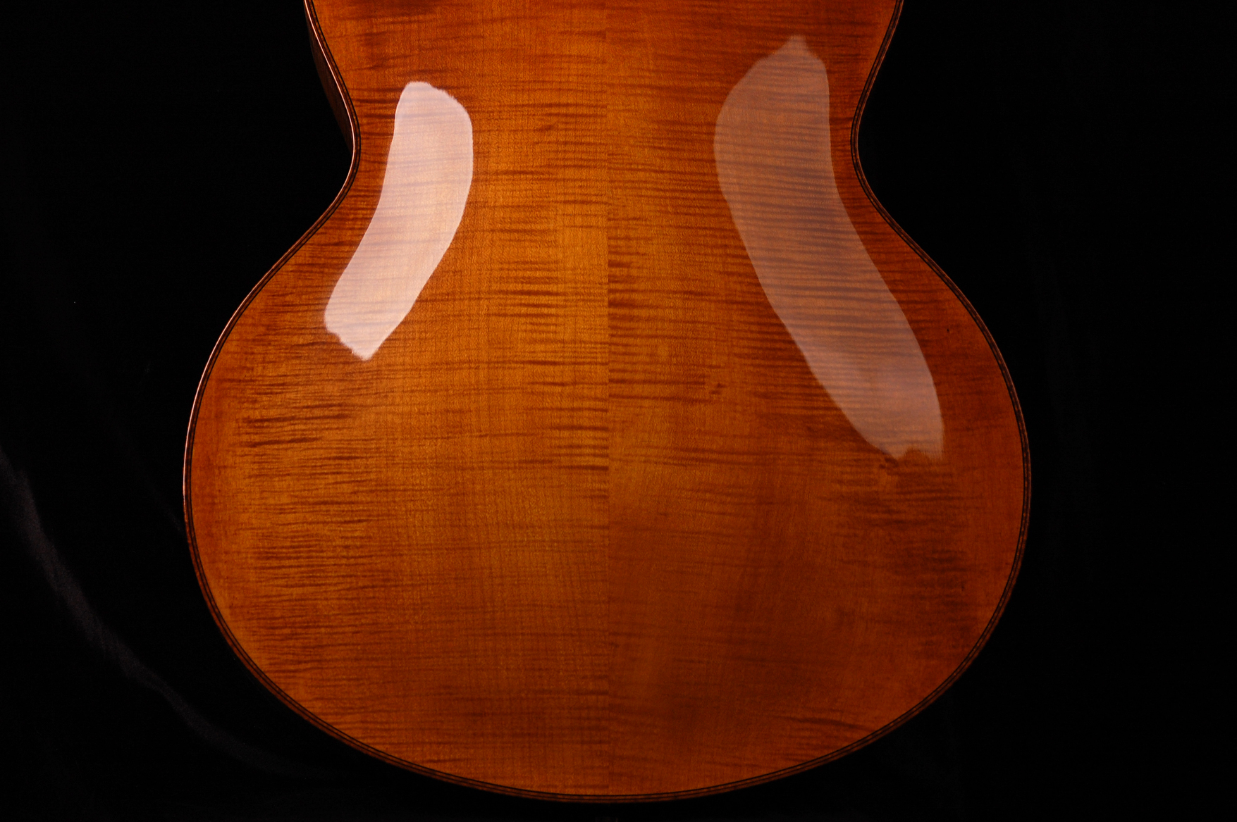 Flame maple back