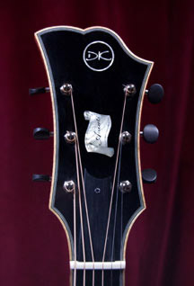 Photograph of a Koentopp Guitar headstock